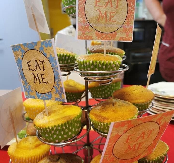 Home Made Cakes Say Eat Me During Mad Hatter's Tea Party
