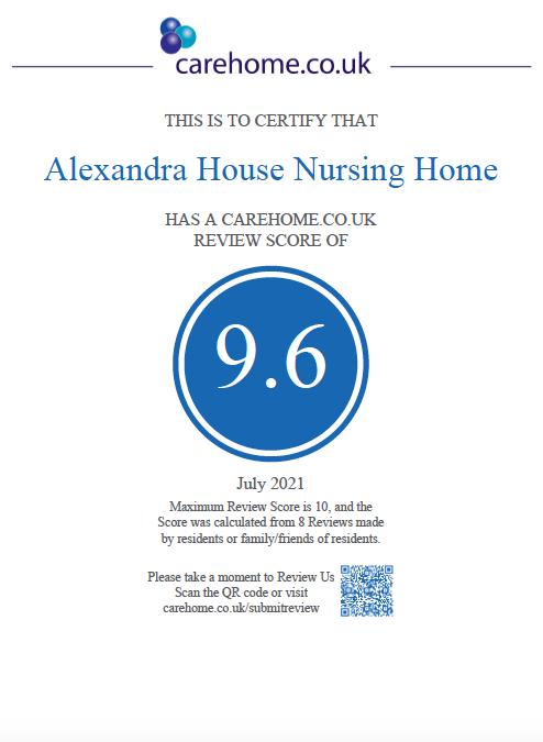 Alexandra House Achieves Top Score